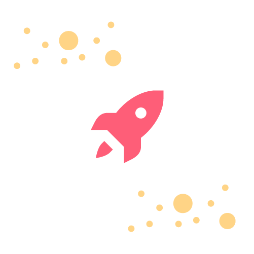 Vektorgrafik mit Rakete